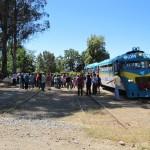 Una fiesta a bordo de un tren histórico