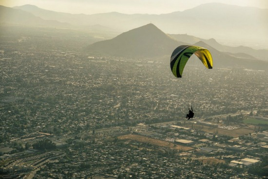 Volando en Santiago
