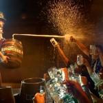 Fiesta con litros de cerveza en Valdivia