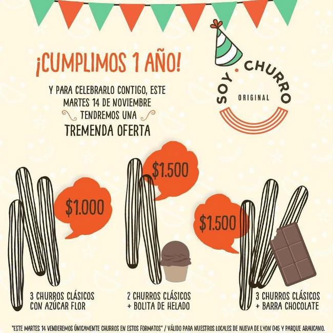 promo churros