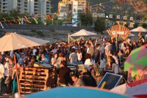 Playa La Carmela: Un sunset en el Mapocho