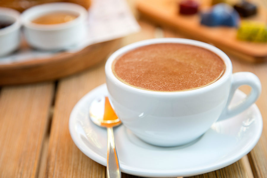chocolat caliente en Patagonia Schokoland