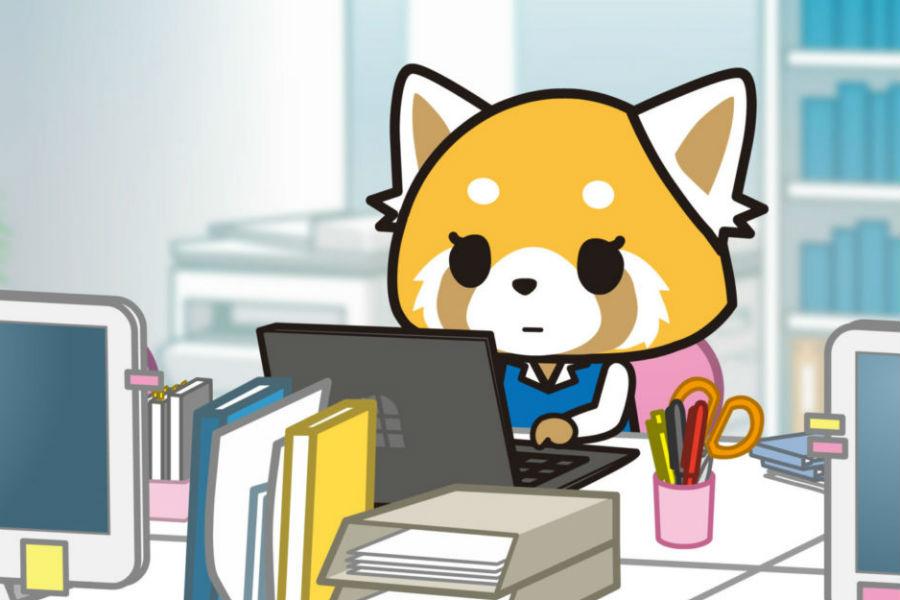 series de animación en Netflix aggretsuko