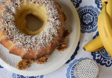 receta queque de plátano