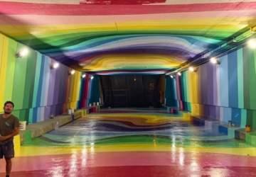 Túnel que une Bandera con San Diego se abre como colorido paseo peatonal