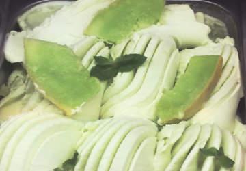 helado de melón con vino