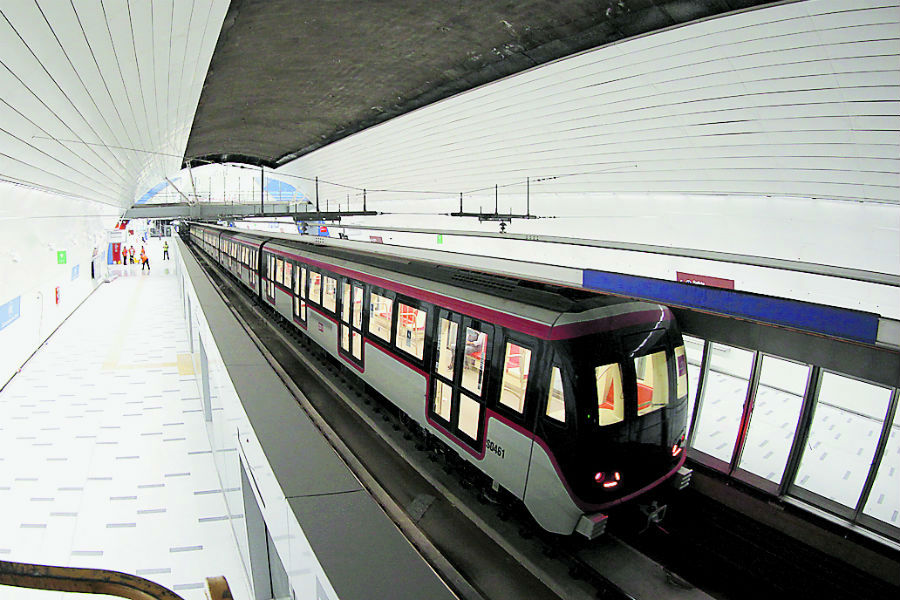línea 3 Metro de Santiago