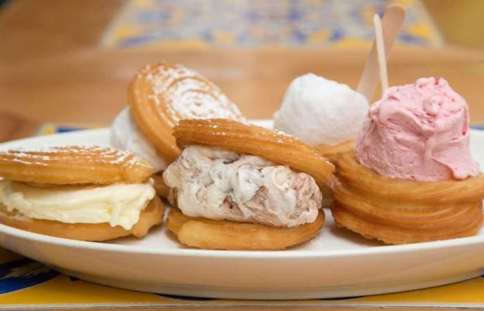 Sándwich de churro y helado: La tentadora novedad de Soy Churro