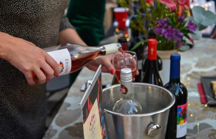 Fiesta de la vendimia en barrio Italia