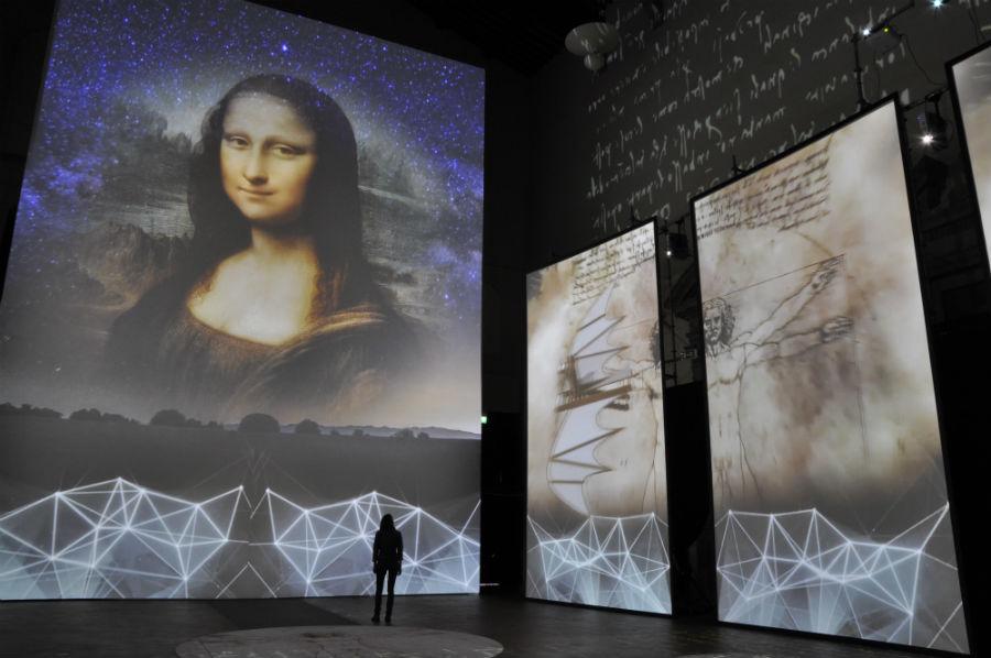 La increíble muestra multimedia sobre Da Vinci que recorrerá el Parque Quinta Normal