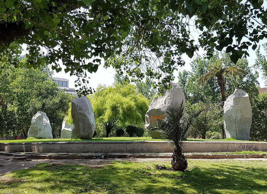 Esculturas de piedra Parque Almagro