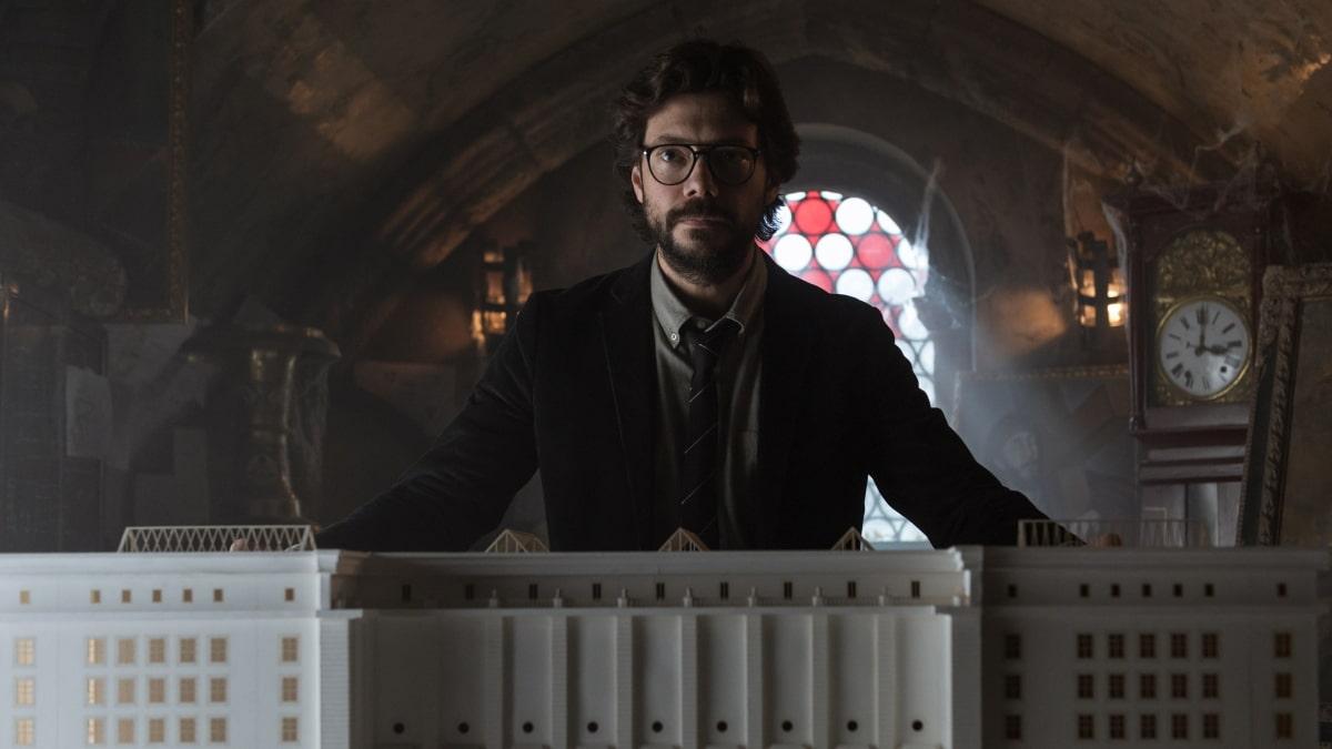 Álvaro Morte El Profesor La Casa de Papel Parte 3 Netflix