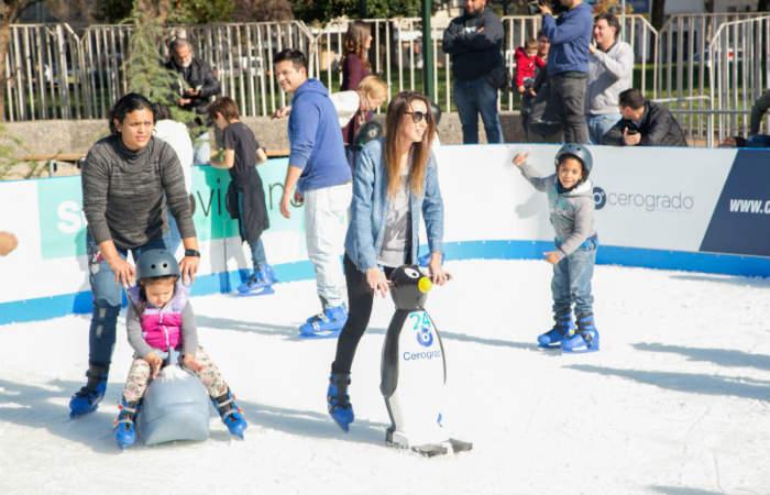 Las pistas de patinaje en hielo más entretenidas de Santiago