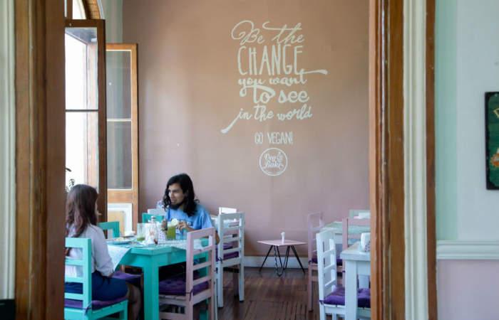 Cafeterías veganas en Santiago