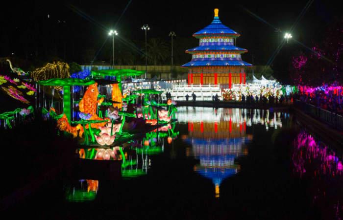 Así es Fesiluz, el impresionante festival de luces chinas en Quinta Normal