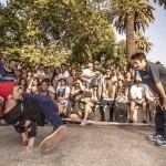 Competencia de breakdance con los mejores de Chile