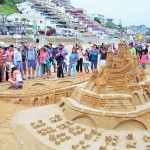 Concurso de castillos de arena en reñaca