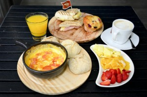 Un desayuno de campeones en el Hard Rock Café