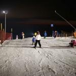 Esquí bajo las estrellas en La Parva