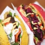 3 deliverys con sándwiches para vegetarianos