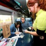 Un viaje en tren con vinos y espumantes
