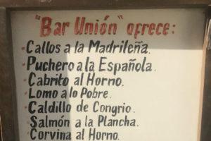 El legendario Bar La Unión Chica