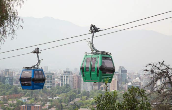Todos los panoramas a los que te lleva el Teleférico de Santiago