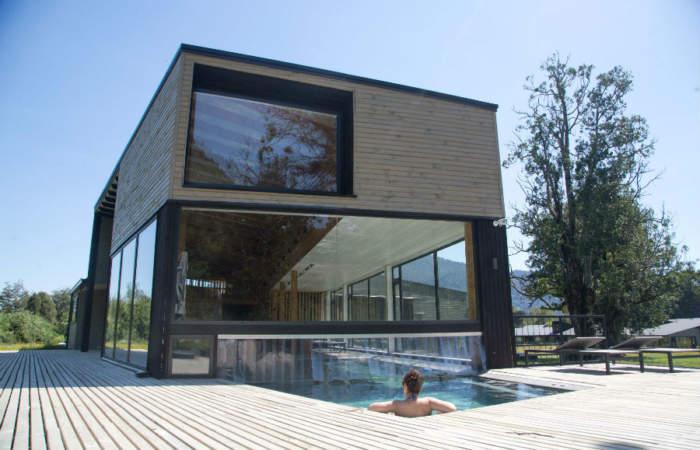 El increíble spa que está a orillas del Lago Ranco