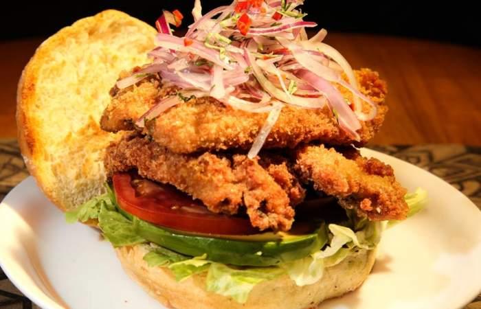 Sándwiches de pescado frito