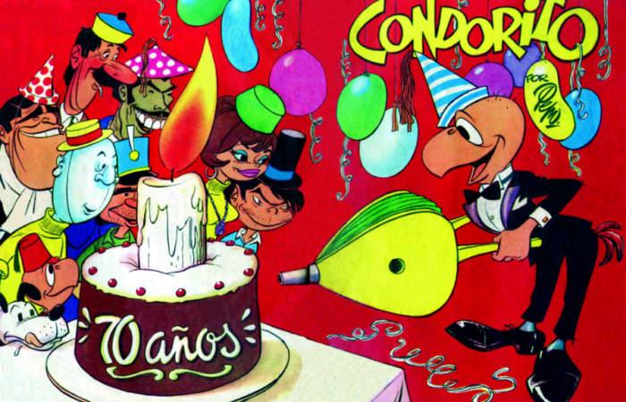 Los 70 años de Condorito se festejarán con una expo gratuita en la Biblioteca Nacional