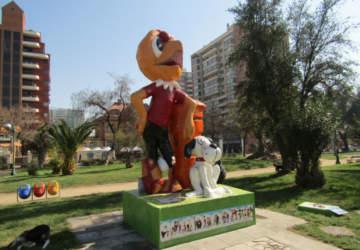 Parque del Comic, un recorrido por las enormes esculturas de Condorito y Pepe Antártico
