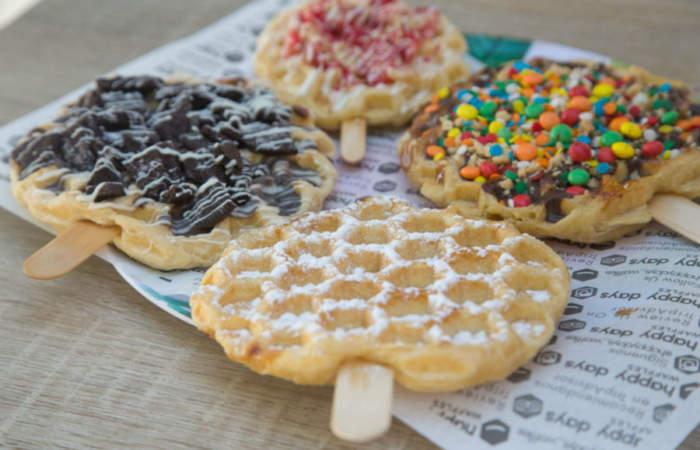 Happy Days, los sabrosos waffles que están frente a la Plaza Ñuñoa