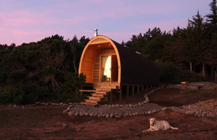 La ecocabaña escondida en un bosque frente a la costa de Quintay y que puedes reservar con Airbnb