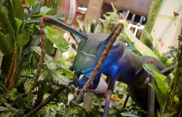 Gratis: la muestra de insectos gigantes animados que se tomaron el Parque Arauco