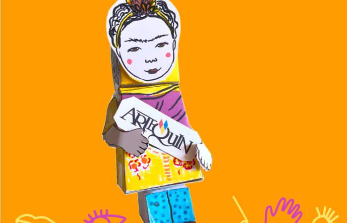 El museo Artequin enseña a confeccionar en papel a Frida Kahlo y Andy Warhol
