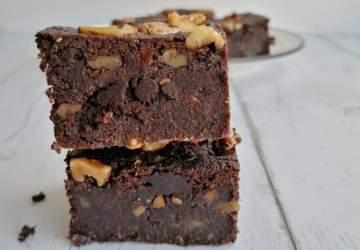 Receta de brownie vegano fácil y totalmente adictiva