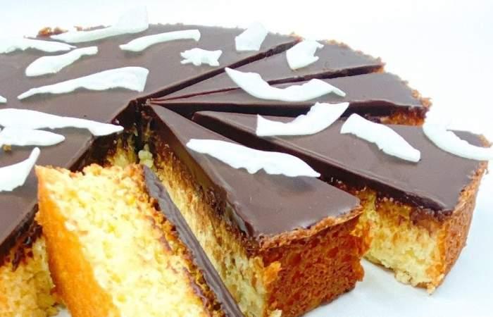 Receta de kuchen de coco y chocolate sin harina y de tradición alemana