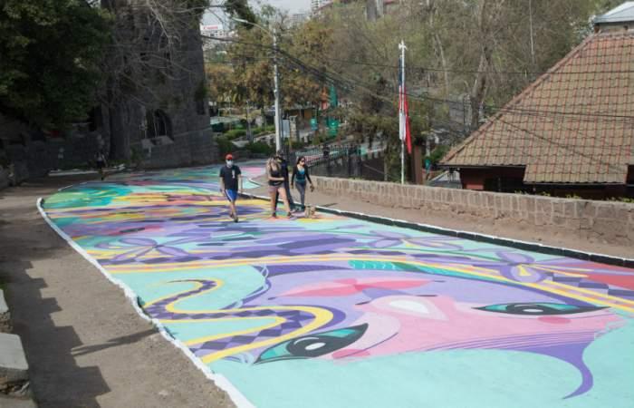 Los enormes murales que alegran aún más el Parque Metropolitano