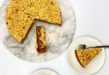 Receta de Cheesecake de Nutella y streusel de avellana
