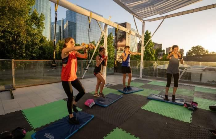 Club Ringo, el gimnasio al aire libre que se instaló en pleno Parque Araucano
