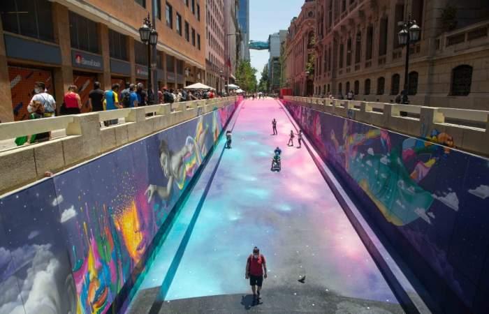 El colorido Paseo Bandera se renueva con impresionantes murales de Dasic Fernández