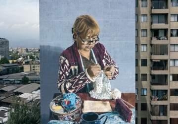 El nuevo y monumental mural realista que sorprende en el barrio Matta