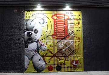 Los nuevos murales iluminados que le dan color al histórico barrio Matta Sur