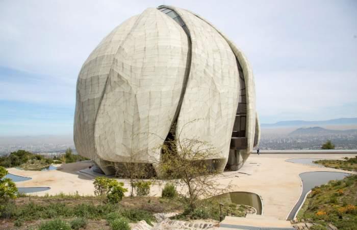 El templo Bahai reabre con sus increíbles miradores con vista a Santiago