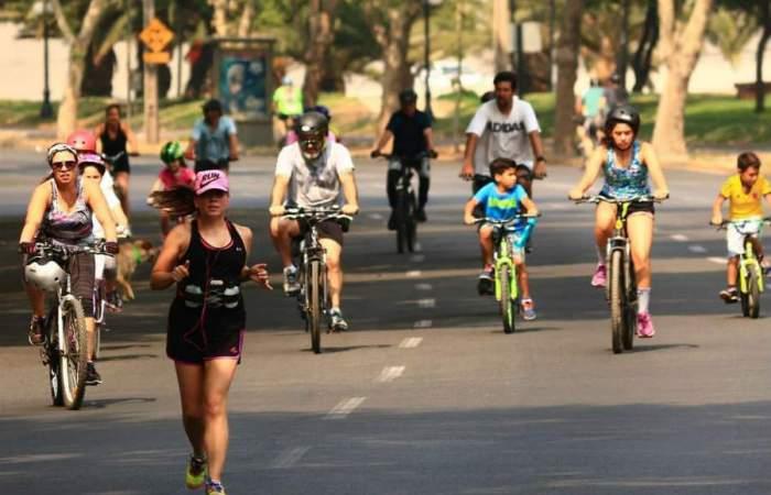 Ñuñoa retoma su ciclorecrevía de los domingos con 4 kilómetros para correr o pedalear