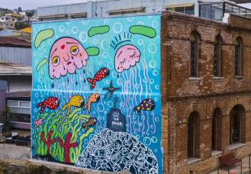 Ya puedes ver el nuevo mural de Mon Laferte en los cerros de Valparaíso