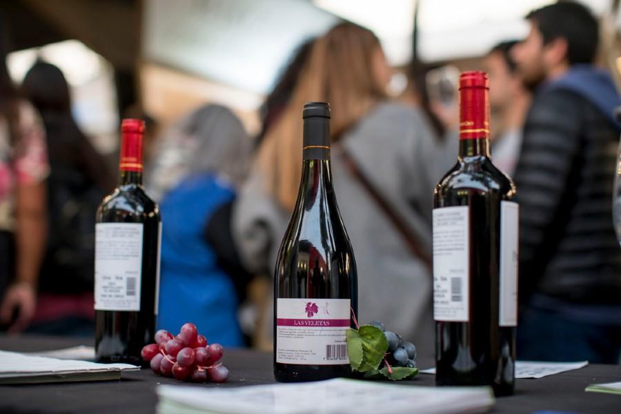 La feria de vinos instalada en plena Av. Providencia