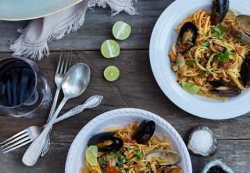 Receta de fideos con mariscos con todo el sabor del mar