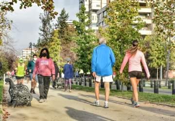 Guía con las calles que se cortan para hacer deportes en la franja Elige Vivir Sano