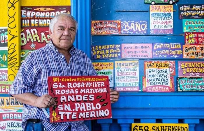Zenén Vargas, el rey de los letreros, abre su primer local en el Persa Bio Bío